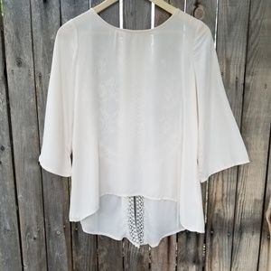 Lush blouse with lace on the back size medium